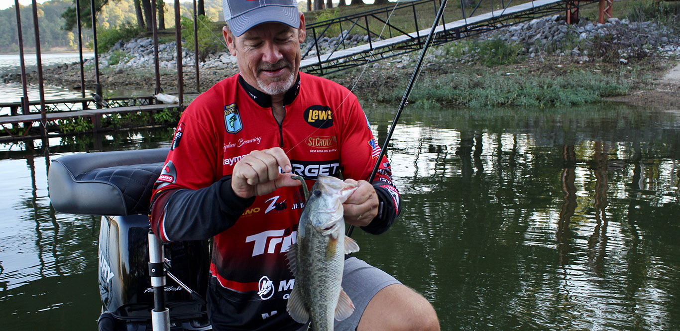Major League Fishing pro Stephen Browning