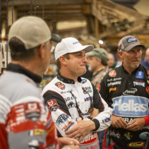 Major League Fishing pros Scott Suggs, Anthony Gagliardi, and Wesley Strader.