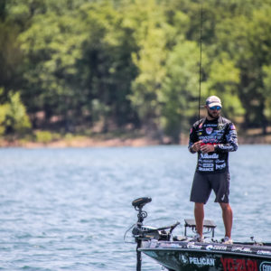 Zack Birge fishing on Table Rock Lake. Photo by Phoenix Moore.