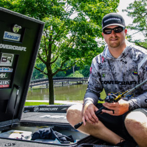 Bradley Roy on his boat, preparing for the Elimination Round of Stage Eight.