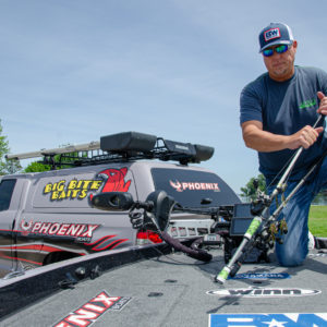 Lane uses Winn Grips on all of his rods because the grips' polymer compounds are tackier and more comfortable than traditional cork.