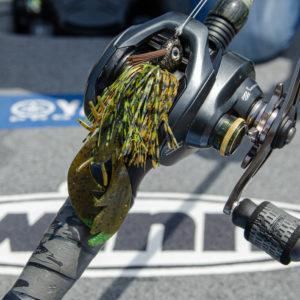 Lane added a Big Bite Baits College Craw trailer onto his Buckeye Lures Pitch 'N' Skip Jig to catch fish on Lake Winnebago.