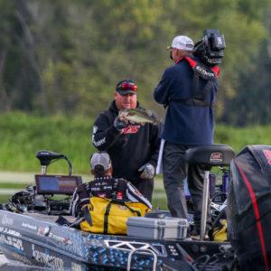 Jacob Powroznik shows off his catch. Photo by Jesse Schultz