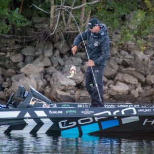 Brent Ehrler lands another bass to try and move into the Top 5. Photo by Phoenix Moore