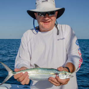 Anglers had to handle the mackerel carefully because it has sharp teeth. Photo by Rachel Dubrovin.