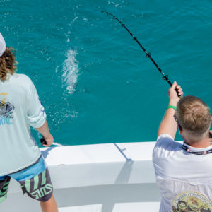 Another Ultimate Dream winner reels in a barracuda. Photo by Rachel Dubrovin.