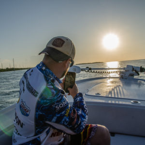 An Ultimate Dream winner snaps a photo on his way to inshore fishing. Photo by Rachel Dubrovin.