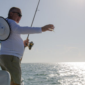 Fishing for seatrout with a fluke. Photo by Rachel Dubrovin.