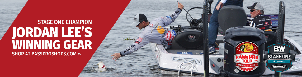 Jordan Lee's Winning Gear Stage One Bass Pro Tour
