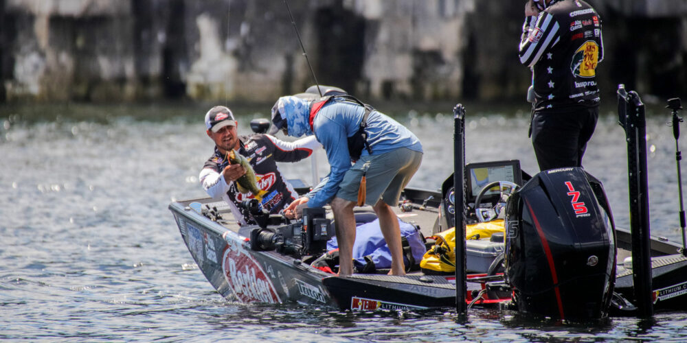 Image for MLF Pros Field 1765 Pounds, a Bass Pro Tour Record,  from Sturgeon Bay
