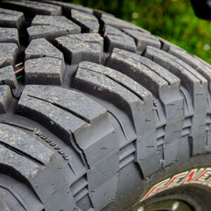 The General Tire pro puts many, many miles on his Grabbers.