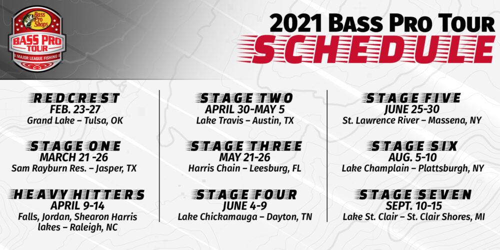 Image for Major League Fishing Announces 2021 Bass Pro Tour Schedule