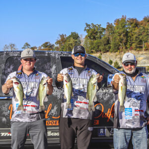 The Top Five teams qualified to fish on Sunday at a mystery lake. Photo by Danelle Roy.