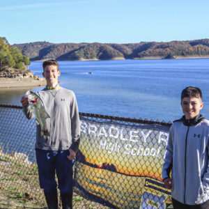 A team with their catch from Lake Cumberland. Photo by Danelle Roy.