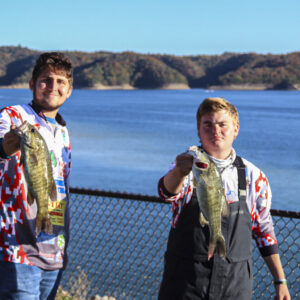 The team of Jake Lycans and William Copley from the Louisa Bass Fishing Team. Photo by Danelle Roy.