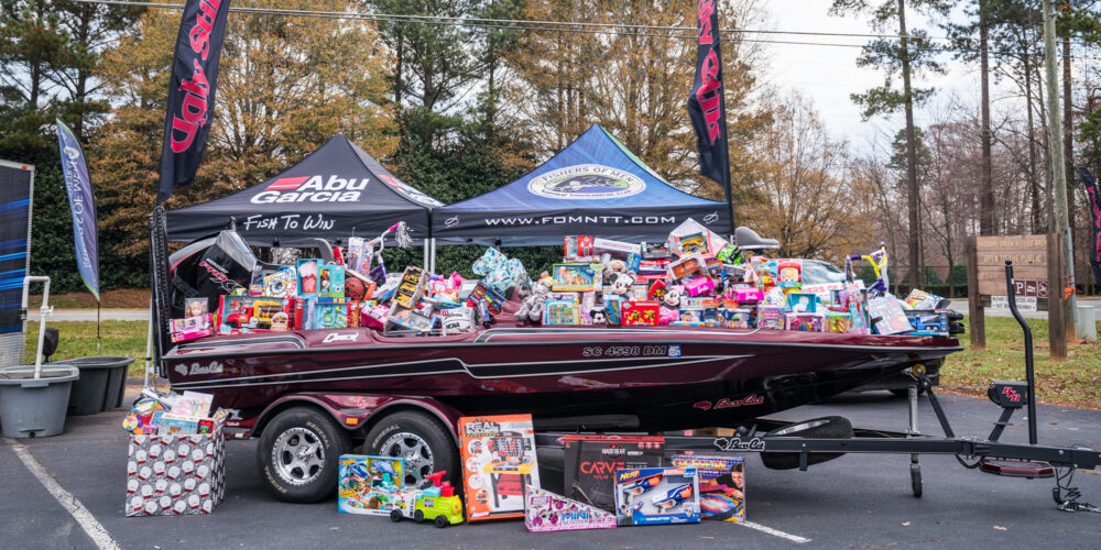 Image for The Ugly Stik World's Largest Santa Claus Bass Tournament Raises More Than $15K in Toys for Toys For Tots