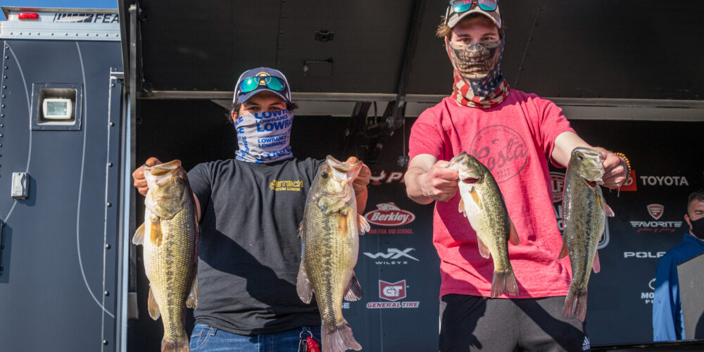 Image for Potter and Johnson Surge Ahead on Day 2 of the College Fishing National Championship