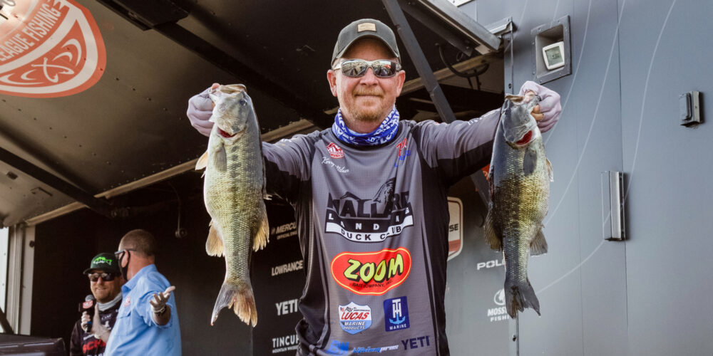 Image for Milner Leads with Spotted Bass on Day 1 at Smith Lake