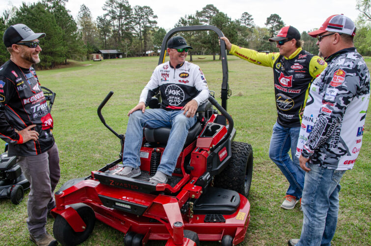 MLF pros Skeet Reese, Brent Chapman, Jeff Sprague and James Watson divvy up the responsibilities.