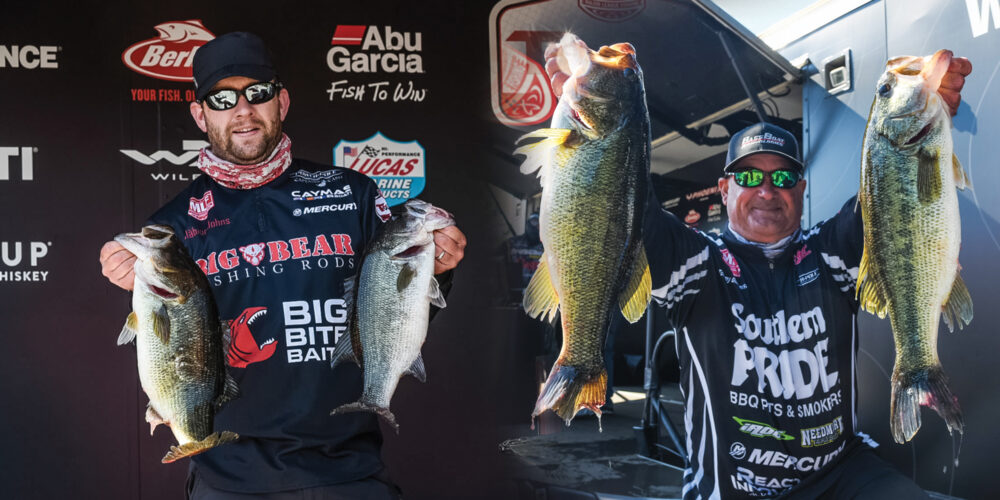 Image for Johns and Dickerson Tied at Top After Day 1 of Tackle Warehouse Pro Circuit Googan Baits Stop 3 at Lake Murray
