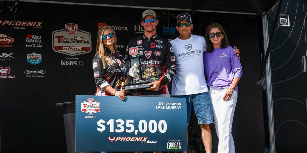 Image for Becker Earns First Career Tackle Warehouse Pro Circuit Victory at Googan Baits Stop 3 at Lake Murray