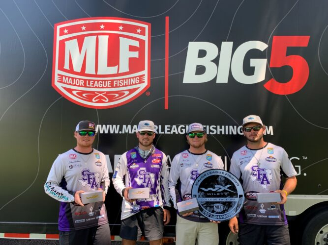 Image for Stephen F. Austin University Wins MLF Wiley X College Faceoff at Lake O' The Pines