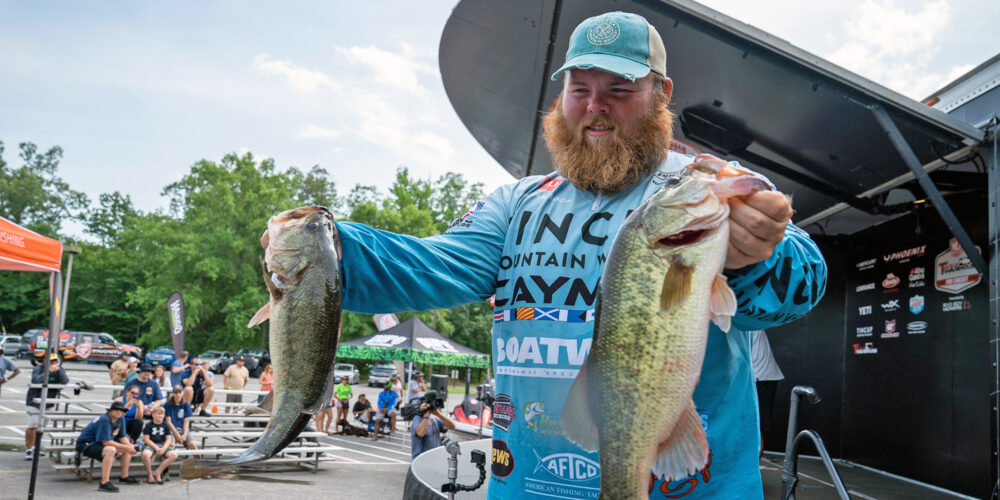 Image for Hibdon Clings to Lead After Tough Day 3 on the Potomac