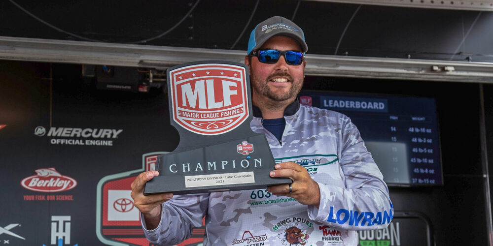 Image for Estes Earns First Win With Big Day on Lake Champlain