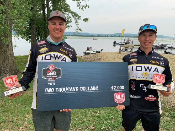Image for University of Iowa Wins Abu Garcia College Fishing Tournament on the Mississippi River