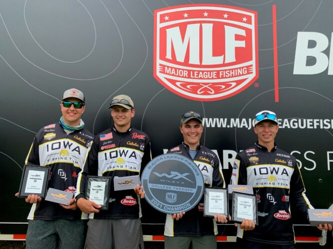 Image for University of Iowa Sweeps Weekend and Earns Win at MLF Wiley X College Faceoff at Mississippi River in La Crosse