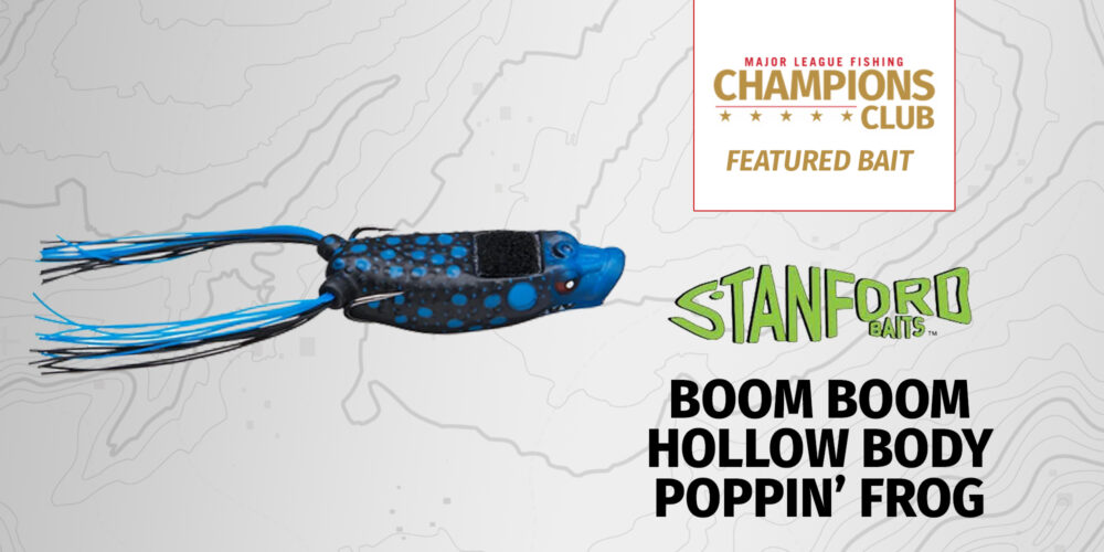Image for Featured Bait: Stanford Baits Boom Boom Hollow Body Poppin' Frog