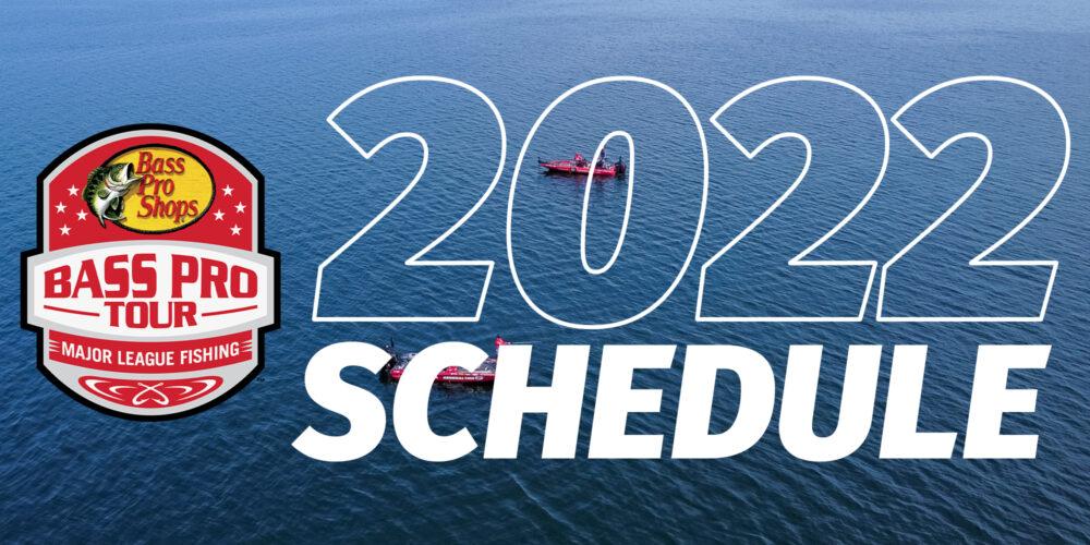Image for 2022 Bass Pro Tour Schedule Explores New Fisheries, Big Fish, Diversity