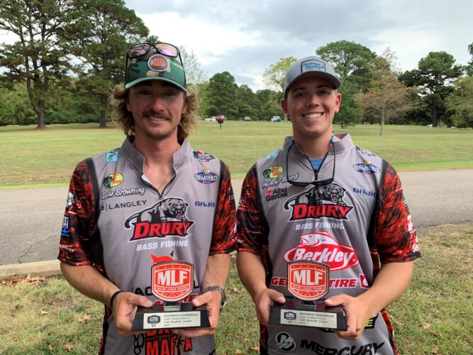 Image for Drury University's Baird & Browning Earn Victory at Abu Garcia College Fishing Tournament on Lake Dardanelle