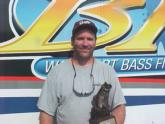 Scott Mrozinski of Sullivan, Wis., claimed first place in the Co-angler Division of the Wal-Mart BFL Great Lakes Division tournament on the Mississippi River June 22.
