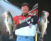 Energizer pro J.T. Kenney of Frostburg, Md., shows off most of his 15 pounds, 13 ounces for fourth place.