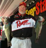 Pro George Alexander of Jacksonville, Fla., is in second place with 20 pounds, 10 ounces.