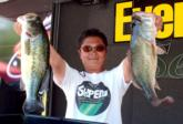 Michi Oba of Tokyo, Japan, leads the Co-angler Division of the Eastern Division EverStart on Guntersville Lake after day one with 18 pounds, 9 ounces.