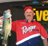 Co-angler Stephen Semelsberger of Mt. Airy, Md., is in second place with 17 pounds, 5 ounces. He also had the co-angler big bass on day one which weighed 6 pounds, 8 ounces.