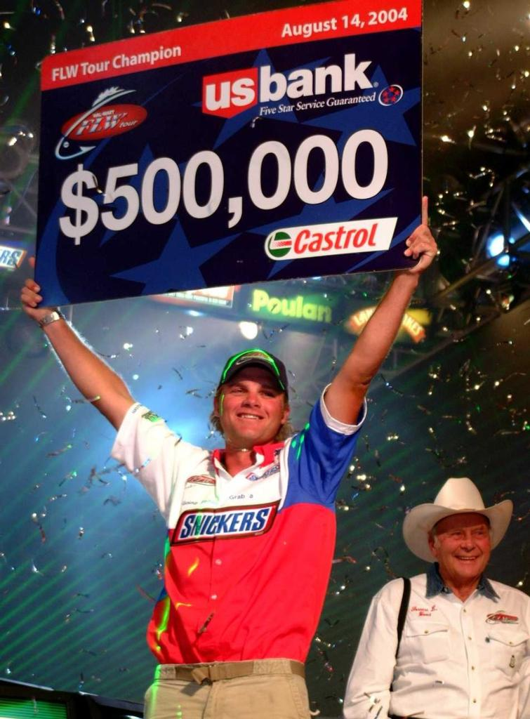 Image for Rookie romp reaps bass fishing's richest reward