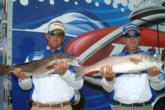 Gary McKenzie of  Bartow, Fla., and Terry Brantley of Arcadia, Fla., are in fourth place with 14 pounds, 12 ounces.