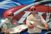Joseph Porcelli of Oak Hill, Fla., and Jeff Stellinga of Windermere, Fla., are in fourth place with 14 pounds, 12 ounces.