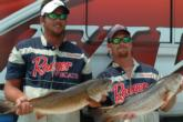 Travis Tanner of Christmas, Fla., and Jason Hughey of Davenport, Fla., are in third place with 15 pounds, 6 ounces.