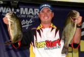 Pro Jason Knapp of Uniontown, Pa., grabbed second place Friday with a mixed-bag limit weighing 18 pounds, 13 ounces.
