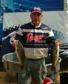 Pro Tad Ladd caught a limit weighing 13-11 to finish day one in third place.