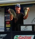Todd Kuipers of Lafayette, Ind., tied for the lead in the Co-angler Division with a five-bass limit weighing 12 pounds, 6 ounces.