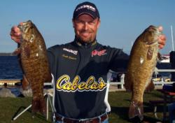 Scott Dobson of Clarkston, Mich., grabbed second place with a limit of smallmouths weighing 18 pounds, 10 ounces.