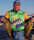 Jacob Powroznik of Prince George, Va., placed fifth for the pros with a limit weighing 18 pounds, 4 ounces.