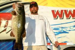 Tony Peterson of Livermore, Calif., won the day's big bass award in the Co-angler Division after netting a whopping 10-pound, 11-ounce largemouth.