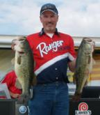 Jimmy Ballard ended day one second among co-anglers with five bass that weighed 26 pounds, 1 ounce.