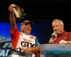 Carl Svebek pro rode his Gambler Sweebo worm (junebug) fished wacky style for four days in the waters of Toho to finish second with a two-day total of 18 pounds, 5 ounces worth $50,000.